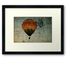 Come Travel the World With Me Framed Print