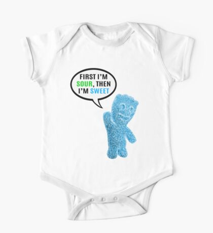 First I'm Sour, Then I'm Sweet Quote One Piece - Short Sleeve