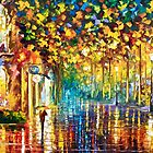 LATE STROLL - Original Art Oil Painting By Leonid Afremov by Leonid  Afremov