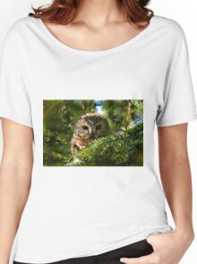 Northern Saw Whet Owl - Amherst Island, Ontario, Canada Women's Relaxed Fit T-Shirt