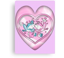 Little Frogs In Love Canvas Print