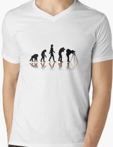 Reflexion Photographer Evolution Mens V-Neck T-Shirt