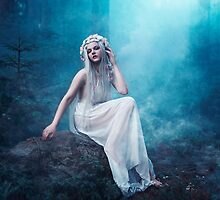Nymphaea girl forest magical smoke by Liancary