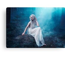 Nymphaea girl forest magical smoke Canvas Print