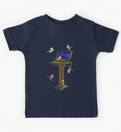 Attack of the Space Bugs .. tee shirt Kids Tee