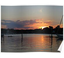 Sunset at Wickford Poster