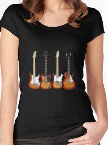 Four Sunburst Guitars Women's Fitted Scoop T-Shirt