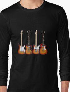 Four Sunburst Guitars Long Sleeve T-Shirt
