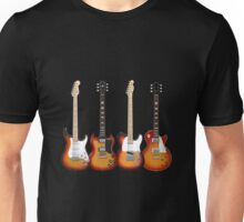 Four Sunburst Guitars Unisex T-Shirt