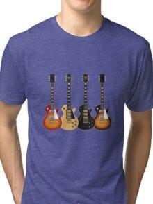 Four Electric Guitars Tri-blend T-Shirt