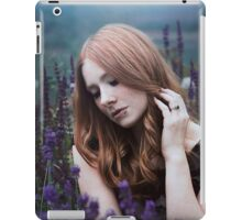 Portrait of a girl with lavendel iPad Case/Skin