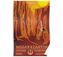 Beggar's Canyon - Tatooine Poster