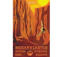 Beggar's Canyon - Tatooine Photographic Print