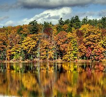 Autumn Reflections on Zephyr Lake by Monica M. Scanlan