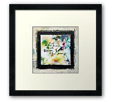 She will blossom Framed Print