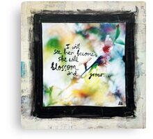 She will blossom Canvas Print
