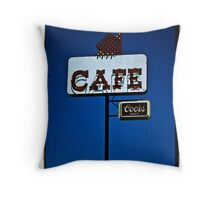 Cafe with Coors Throw Pillow