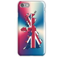 Smartphone Case - Cool Britannia - Red White Blue Background iPhone Case/Skin