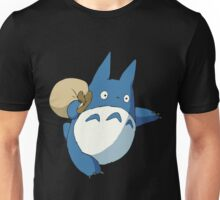 Small Blue Totoro with Swag Bag - No Outline Unisex T-Shirt