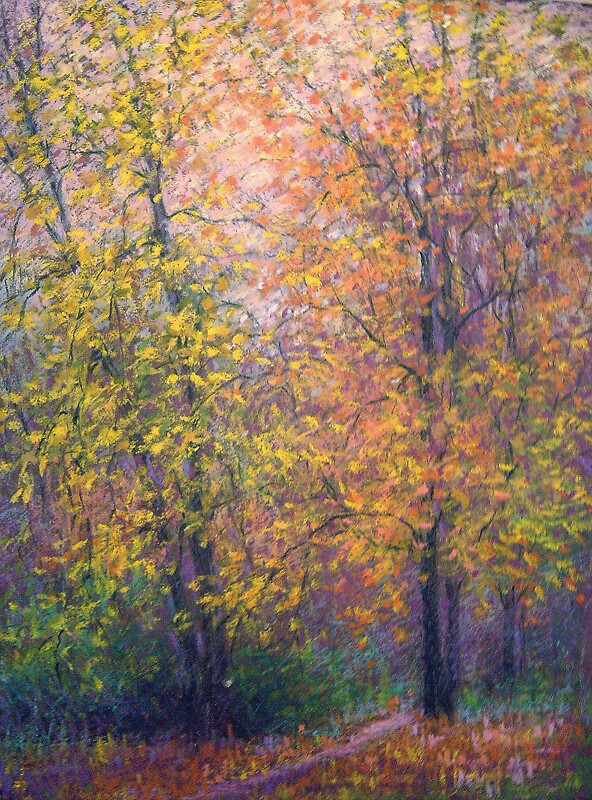 Fall trees by Julia Lesnichy