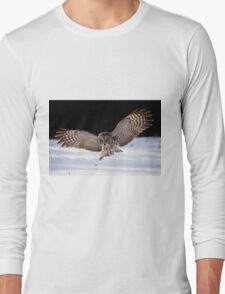 Great Gray Owl Long Sleeve T-Shirt