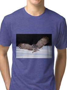 Great Gray Owl Tri-blend T-Shirt