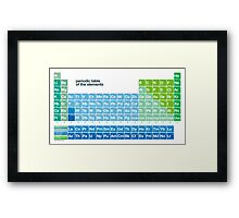 Fresh periodic table of the elements Framed Print