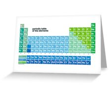 Fresh periodic table of the elements Greeting Card