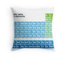 Fresh periodic table of the elements Throw Pillow