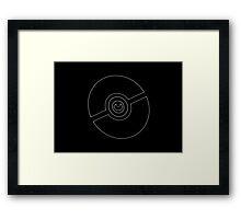 Pokemon Pokeball Dark Framed Print