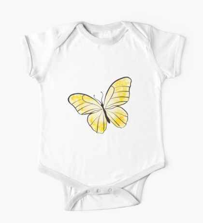 Yellow Butterfly One Piece - Short Sleeve