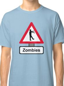 Caution: Zombies Classic T-Shirt