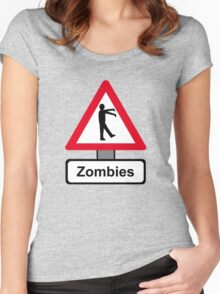 Caution: Zombies Women's Fitted Scoop T-Shirt