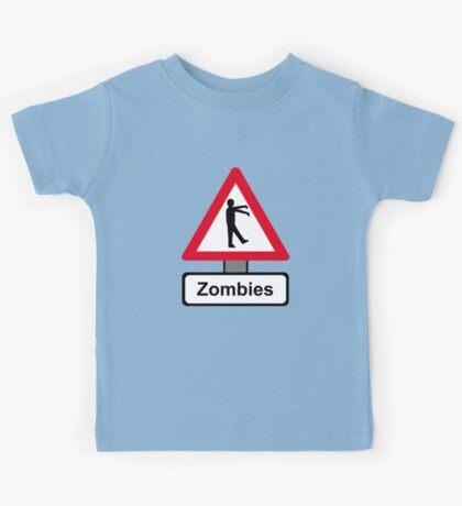 Caution: Zombies Kids Tee