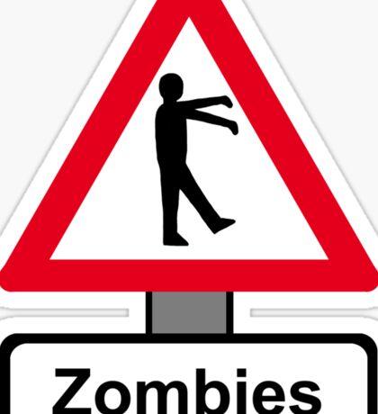 Caution: Zombies Sticker