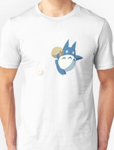 Small White and Blue Totoro with Swag Bag - No Outline T-Shirt