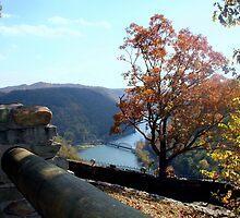 Hawks Nest SP WV overlook by fotoflossy