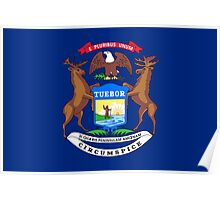 State Flags of the United States of America -  Michigan Poster