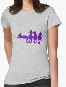 Love tails geek funny nerd Womens Fitted T-Shirt