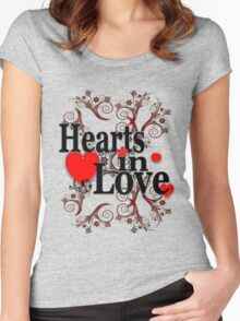 Hearts in love  Women's Fitted Scoop T-Shirt
