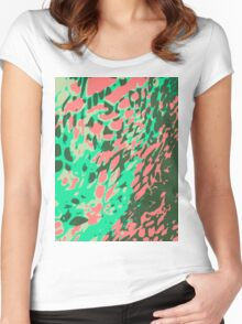 Leopard Pattern Background Women's Fitted Scoop T-Shirt