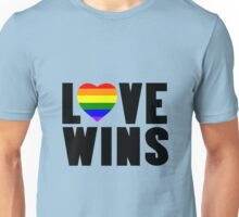 Love wins lovewins celebrate marriage equality geek funny nerd Unisex T-Shirt