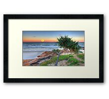 Hunter's Moonrise at Coolum Framed Print