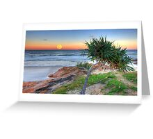 Hunter's Moonrise at Coolum Greeting Card