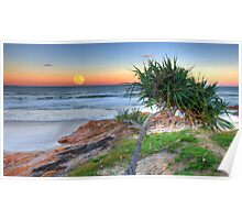 Hunter's Moonrise at Coolum Poster