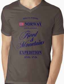 Norway - Fjord & Mountains Mens V-Neck T-Shirt
