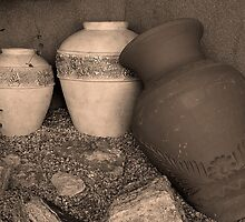 Pottery Row by Wendy  Chapman