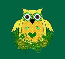 Spring Owl  Womens Fitted T-Shirt