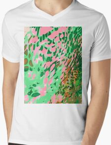 Leopard Pattern Background Mens V-Neck T-Shirt