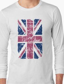 London - United Kingdom - Union Jack Flag Long Sleeve T-Shirt